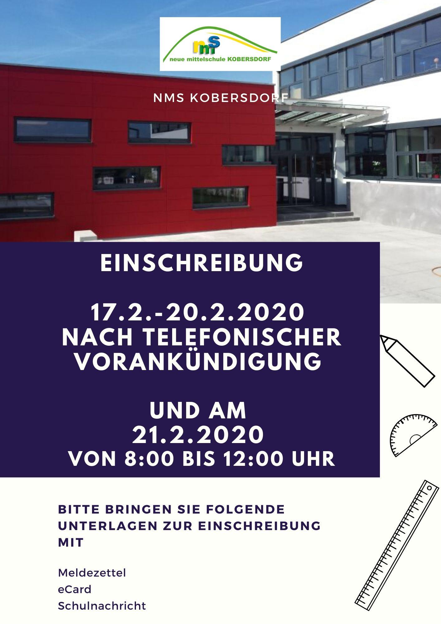 Informationen zur Einschreibung in die NMS Kobersdorf